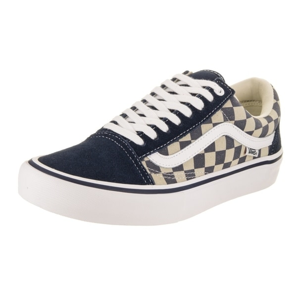 Shop Vans Men s Old Skool Pro (Checkerboard Suede) Skate Shoe - Free ... d41f631b8