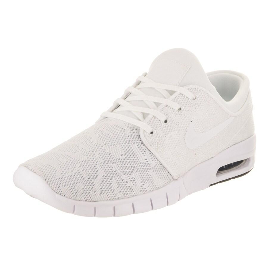Nike Men's Stefan Janoski Max Skate Shoe (9.5), White (Te...