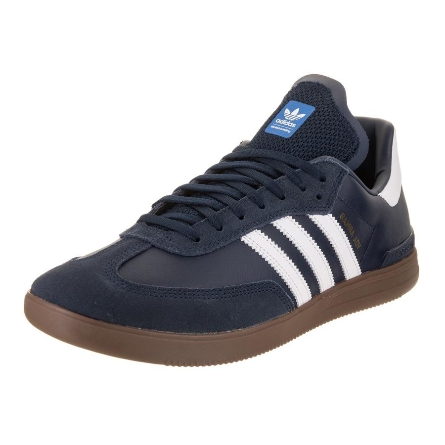 Adidas Men's Samba Adv Skate Shoe (10.5), Blue (Suede)