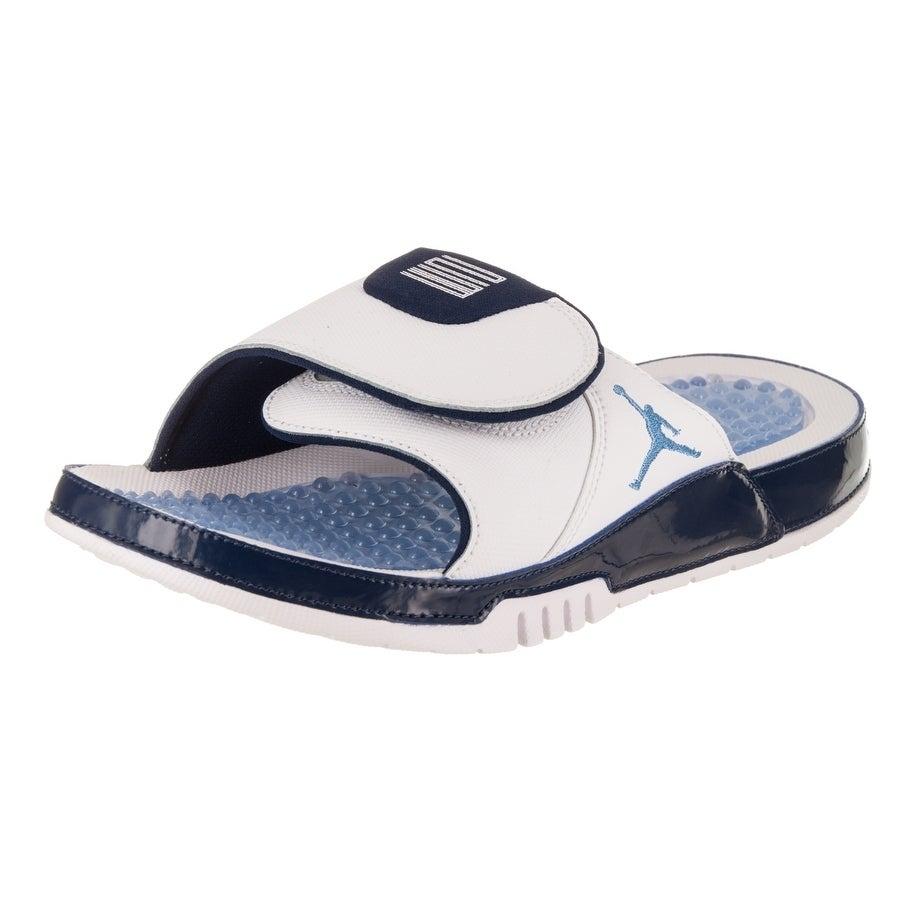 Nike Jordan Men's Jordan Hydro XI Retro Sandal (11), Whit...