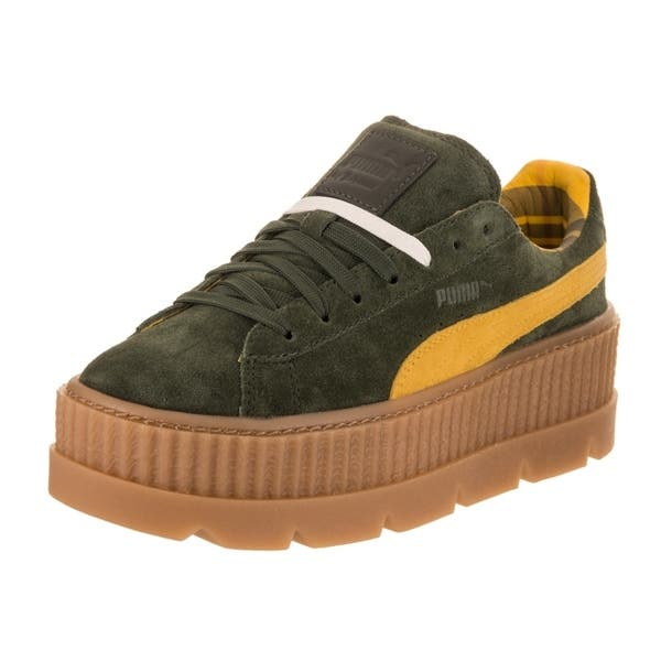 pretty nice 4b7d1 340ad Shop Puma Women's Fenty Cleated Creeper Casual Shoe - Free ...
