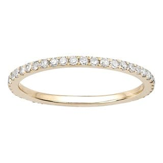 Viducci 10k Yellow Gold 1 2ct Pave Eternity Diamond Wedding Band