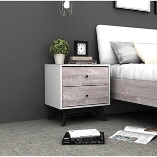 Link to Simple Living Crislana Grey Faux Concrete Nightstand Similar Items in Bedroom Furniture