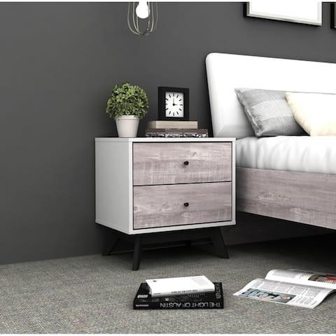 Simple Living Crislana Grey Faux Concrete Nightstand
