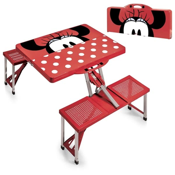 Remarkable Minnie Mouse Picnic Table Sport Portable Folding Table With Seats Customarchery Wood Chair Design Ideas Customarcherynet
