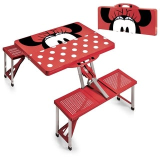 Minnie Mouse - Picnic Table Sport Portable Folding Table with Seats