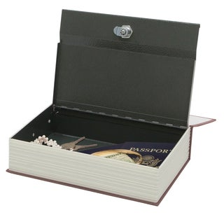 Hercules BK0802 Book Safe with Concealed Key Lock, Steel, Red