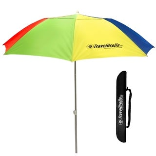 Travel Portable Beach Umbrella - Compact Portable Sun Umbrella - Fits in Your Suitcase - Carry Bag Included