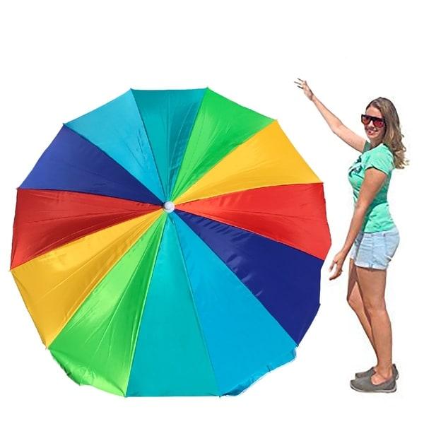 Easygo Rainbow Beach Umbrella Portable Wind Large Folding With