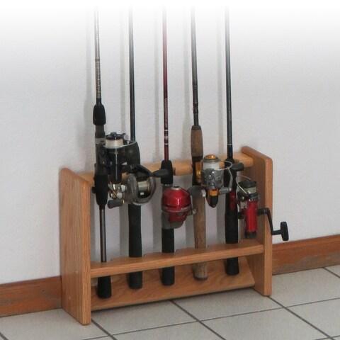 Deluxe 5 Fishing Rod Rack