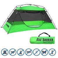 "Bug Barrier - Mosquito Bug Tent - Indoor Outdoor Pop Up Mosquito Net Canopy - 86""L X 39"" X 35"""