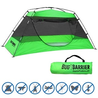 "Bug Barrier - Mosquito Bug Tent - Indoor Outdoor Pop Up Mosquito Net Canopy - 86""L X 39"" X 35"""