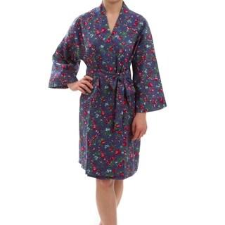 Leisureland Women's Floral Cotton Robe