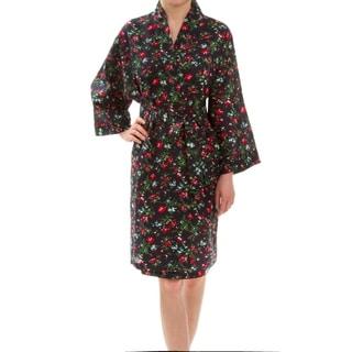 Leisureland Floral Cotton Women's Robe