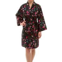 Leisureland Women's Cotton Floral Robe