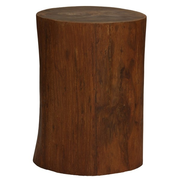 Bare Decor Adi Round Tree Stump End Table Stool