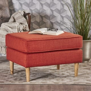 Sawyer Mid Century Modern Fabric Ottoman by Christopher Knight Home|https://ak1.ostkcdn.com/images/products/18158828/P24307906.jpg?impolicy=medium