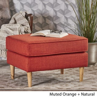 Sawyer Mid Century Modern Fabric Ottoman by Christopher Knight Home