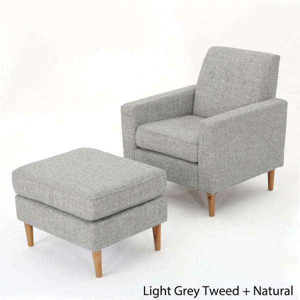 Exceptional Sawyer Mid Century Modern Fabric Club Chair U0026 Ottoman Set By Christopher  Knight Home   Free Shipping Today   Overstock.com   24307907