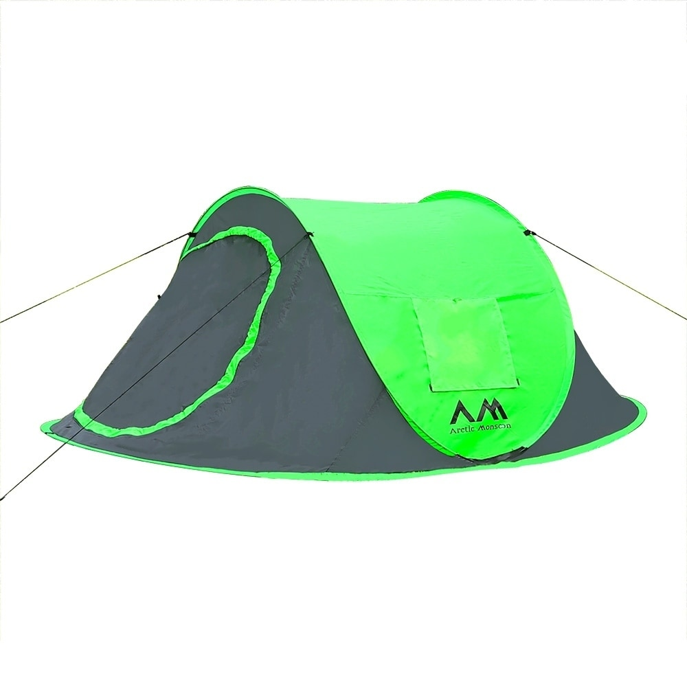 Arctic Monsoon 2 to 3 Person Instant Pop Up Tent, Green