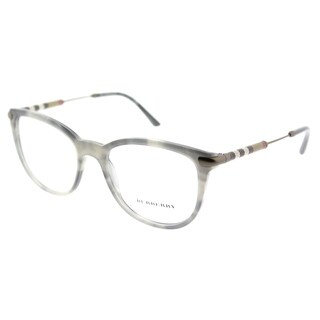 Burberry Square BE 2255Q 3658 Unisex Striped Grey Frame Eyeglasses