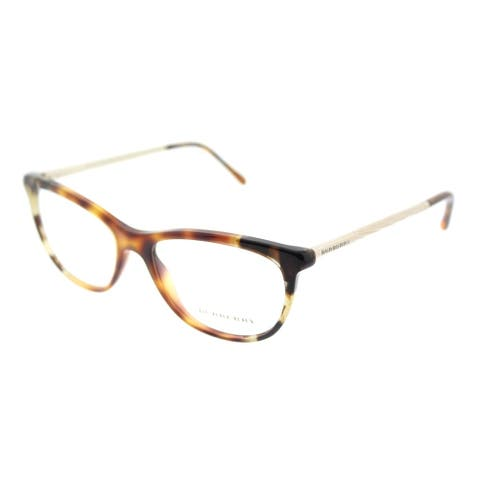 Burberry Cat-Eye BE 2189 3667 Womens Havana Grey Havana Frame Eyeglasses