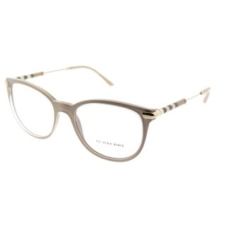 Burberry Square BE 2255Q 3656 Unisex Transparent On Beige Frame Eyeglasses