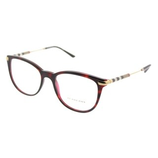 Burberry Square BE 2255Q 3657 Unisex Havana On Bordeaux Frame Eyeglasses