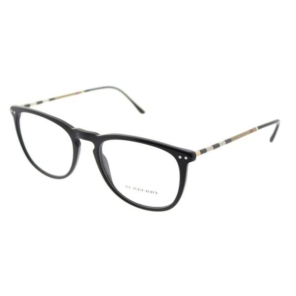 0f7766cdda88 Shop Burberry Square BE 2258Q 3001 Unisex Black Frame Eyeglasses ...