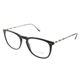 Burberry Square BE 2258Q 3001 Unisex Black Frame Eyeglasses