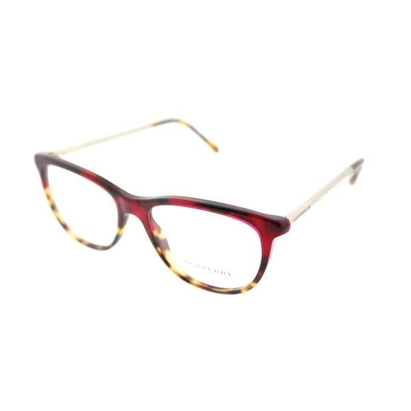 74d86a2418d Burberry Cat-Eye BE 2189 3664 Womens Red Havana Blonde Havana Frame  Eyeglasses