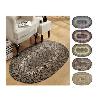 Woodbridge 100% Wool Oval Braided Rug
