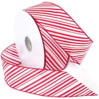 "Peppermint Wired Ribbon 2.5""X50yd"