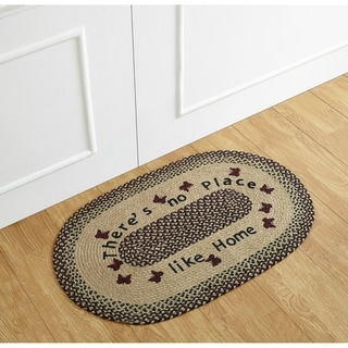 "No Place Like Home Printed Jute Braided Rug - 21"" x 34"""