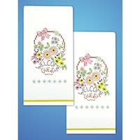 """Stamped Kitchen Towels For Embroidery 18""""X28"""" 2/Pkg"""