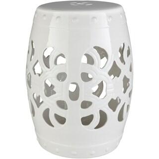 Rafaela White Modern Ceramic Stool