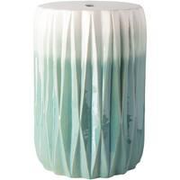 Brigida Aqua Modern Ceramic Garden Stool