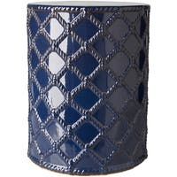 Havenside Home Winthrop Navy Modern Ceramic Garden Stool