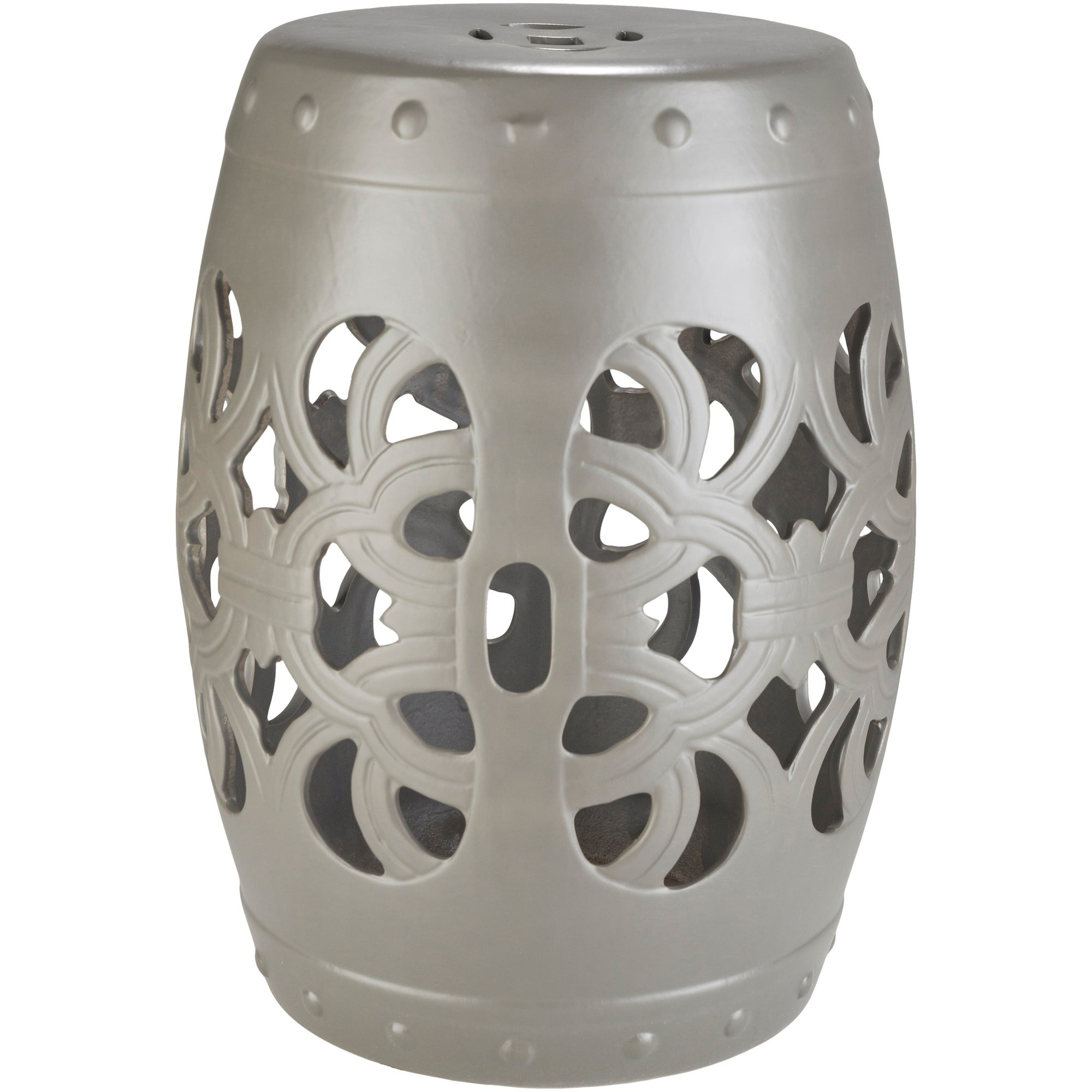 Rafaela Light Gray Modern Ceramic Stool