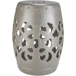 Rafaela Light Gray Modern Ceramic Stool