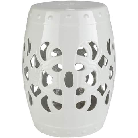 Rafaela Ivory Modern Ceramic Stool