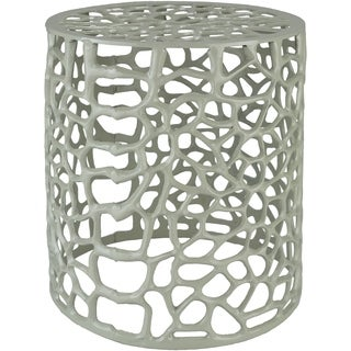 Caiside Wide Sage Modern Metal Stool