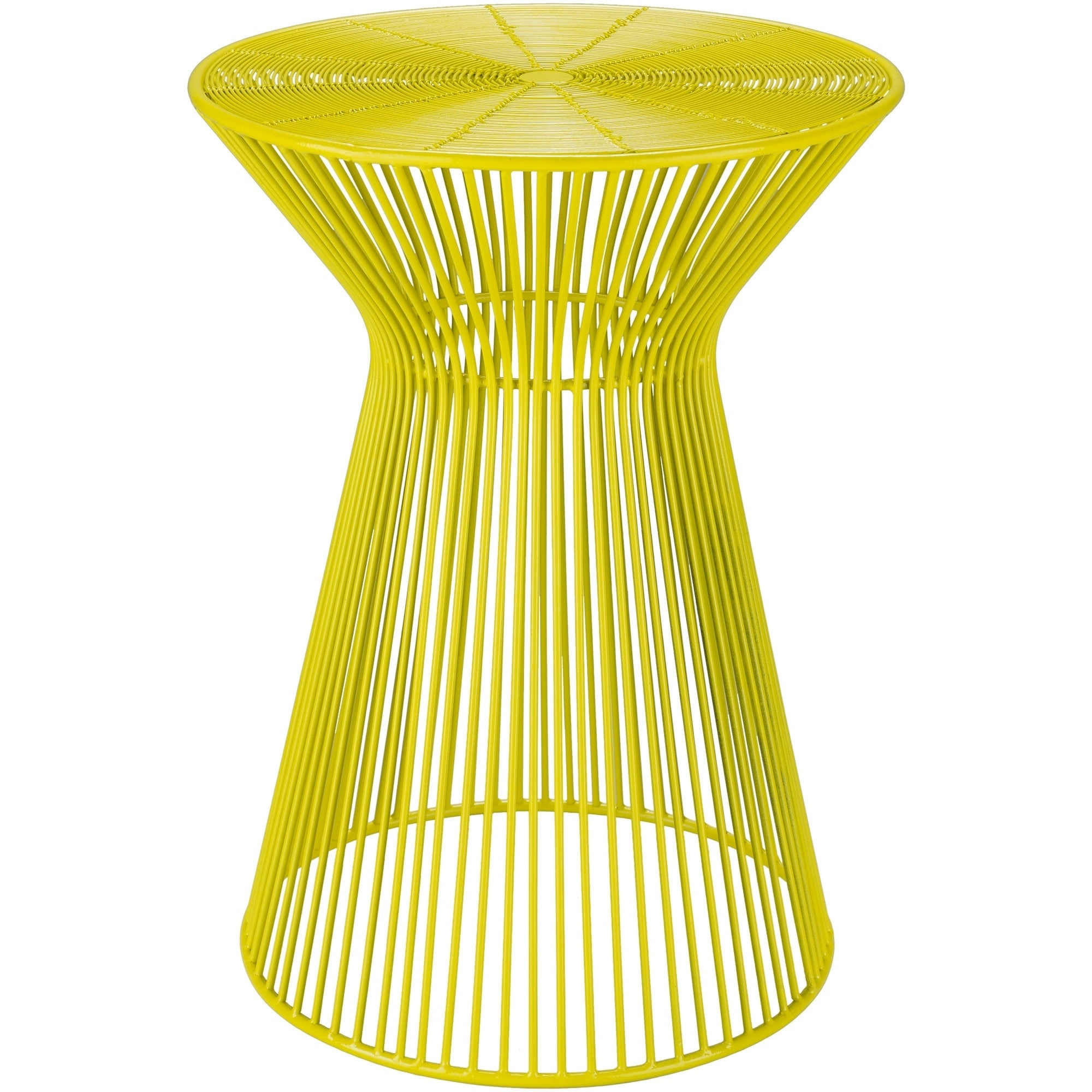 - Shop Petruccio Bright Yellow Modern 13.5-inch Metal Accent Table