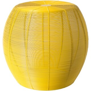 Djuro Bright Yellow Modern 14.5-inch Metal Accent Table