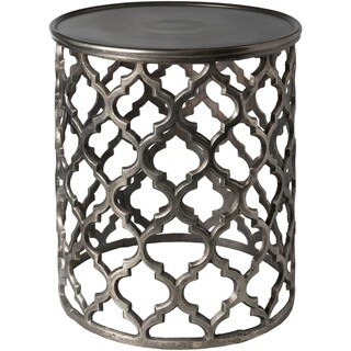 Tiziana Charcoal Transitional 16.5-inch Metal Accent Table