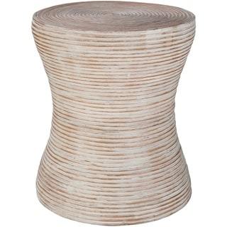 Walen Tan Boho 15.4-inch Rattan Accent Table
