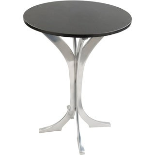 Lemaire Modern Black Marble Round Side Table