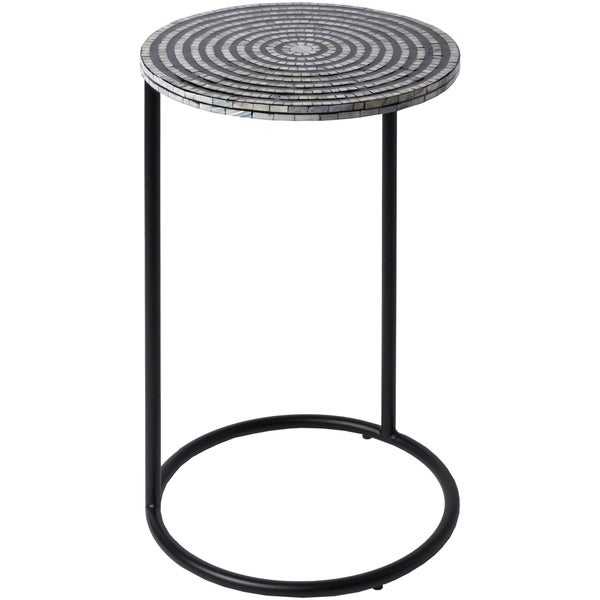 Darshon Black Modern 15-inch Mother of Pearl Accent Table