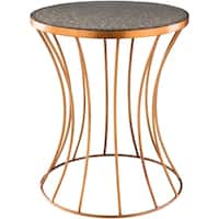 Walentyna Gold Transitional 15-inch Metal Accent Table