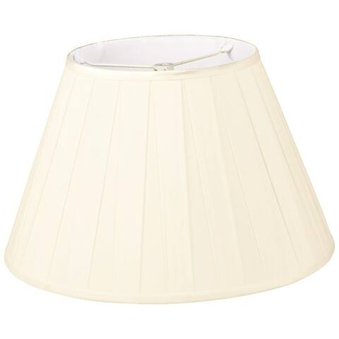 Royal Designs Wide Pleat Empire Designer Lamp Shade, Eggshell, 10 x 18 x 12
